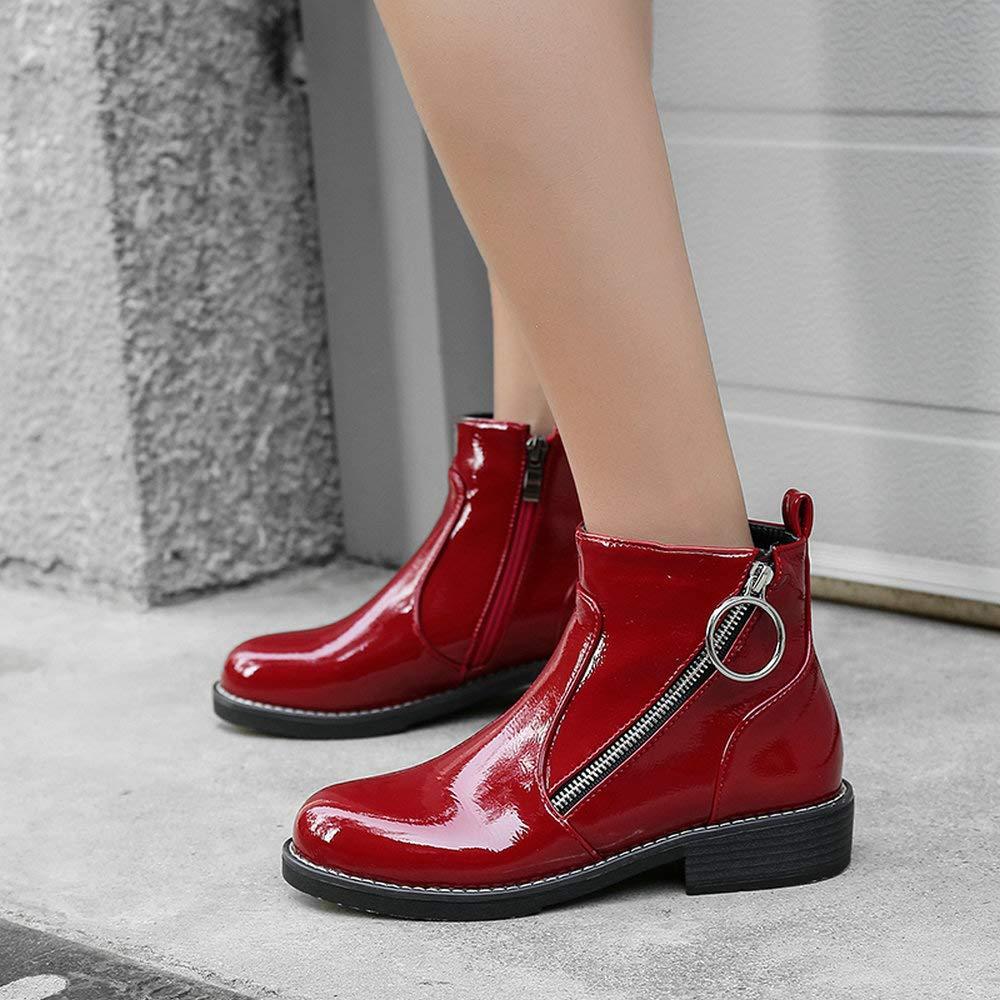 AnMengXinLing MANTANGHONG-68-537-2, Damen Chelsea Stiefel, Rot - rot - 36 Größe: EU 36 - - d2f56e