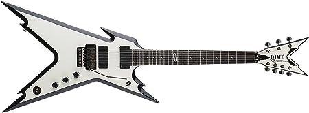Dean 7 cuerdas de la guitarra eléctrica 255 Escala Razorback incluyendo estuche rígido, con biseles Negro - Blanco metálico: Amazon.es: Instrumentos musicales