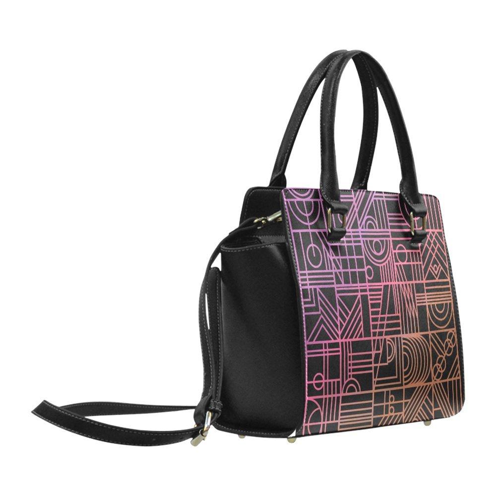 Interestprint Custom Art Nouveau Rainbow Classic Women Top Handbag Shoulder Bag