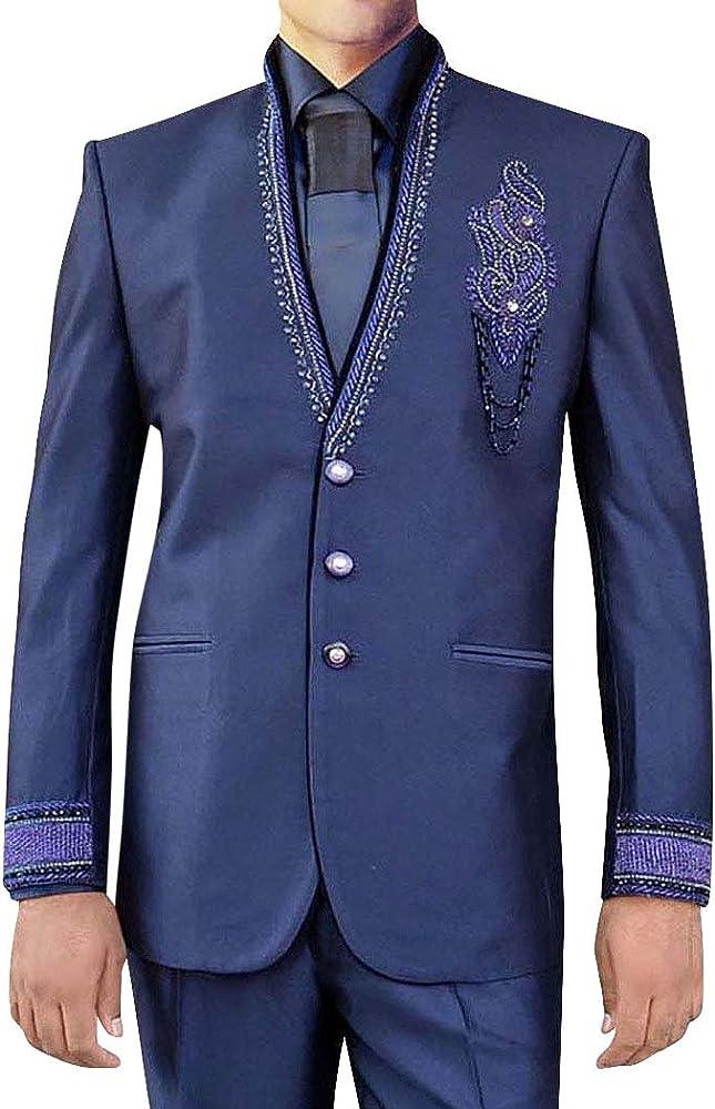 INMONARCH El príncipe Diseñador 4 Pc gris morado traje Jodhpuri ...