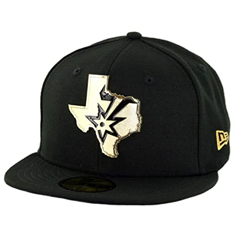 Amazon.com   New Era 5950 San Antonio Spurs Gold Stated Fitted Hat ... 6fea36e6f12