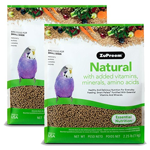 Cockatiel Pellets (ZuPreem Natural with Added Vitamins, Minerals, Amino Acids Small Bird Food, 4.50 lb.)
