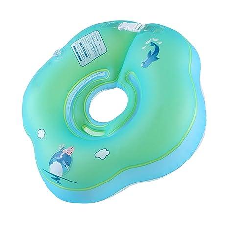 lserver-baby Natación Anillo Flotador regulable para niños Soporte de cuello niños amarillos Anillo Baby