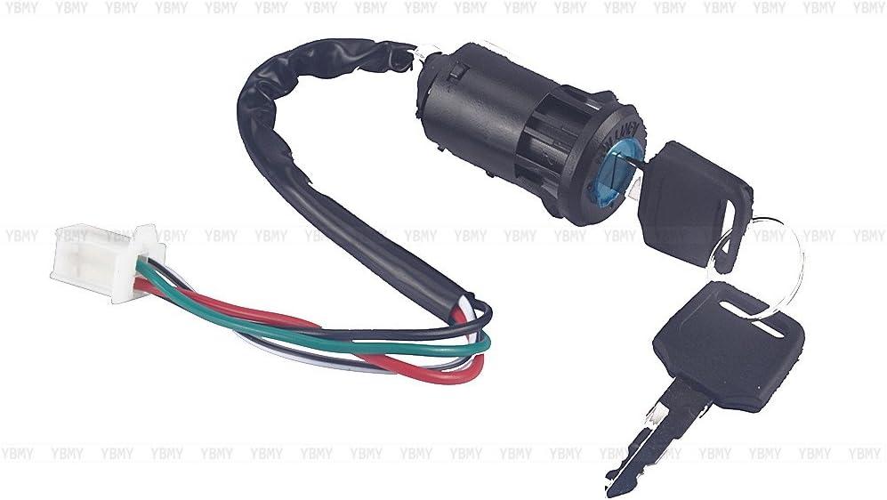 qiilu ql9000/Llave de bloqueo interruptor de encendido de 4/hilos para Quad ATV Go Kart Pit Dirt Bike Scooter ciclomotore