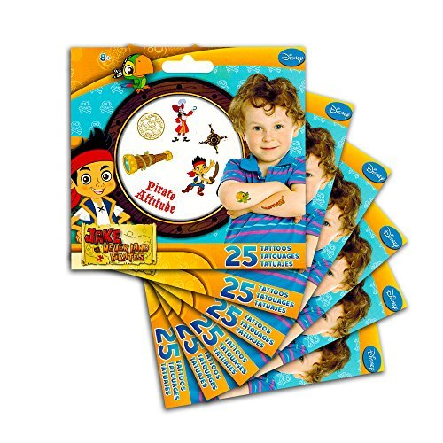 Jake and the Never Land Pirates Temporary Tattoos Party Favor Pack (150 Temporary Tattoos) (Jake And The Neverland Pirate Characters)