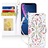 FYY iPhone Xr Cases,Hamdmade Flip Folio Leather Wallet Case with [Wrist Strap] [Kickstand Feature] [Card Slots] [Magnetic Closure] Protective Phone Cases iPhone Xr Cover Pattern-5