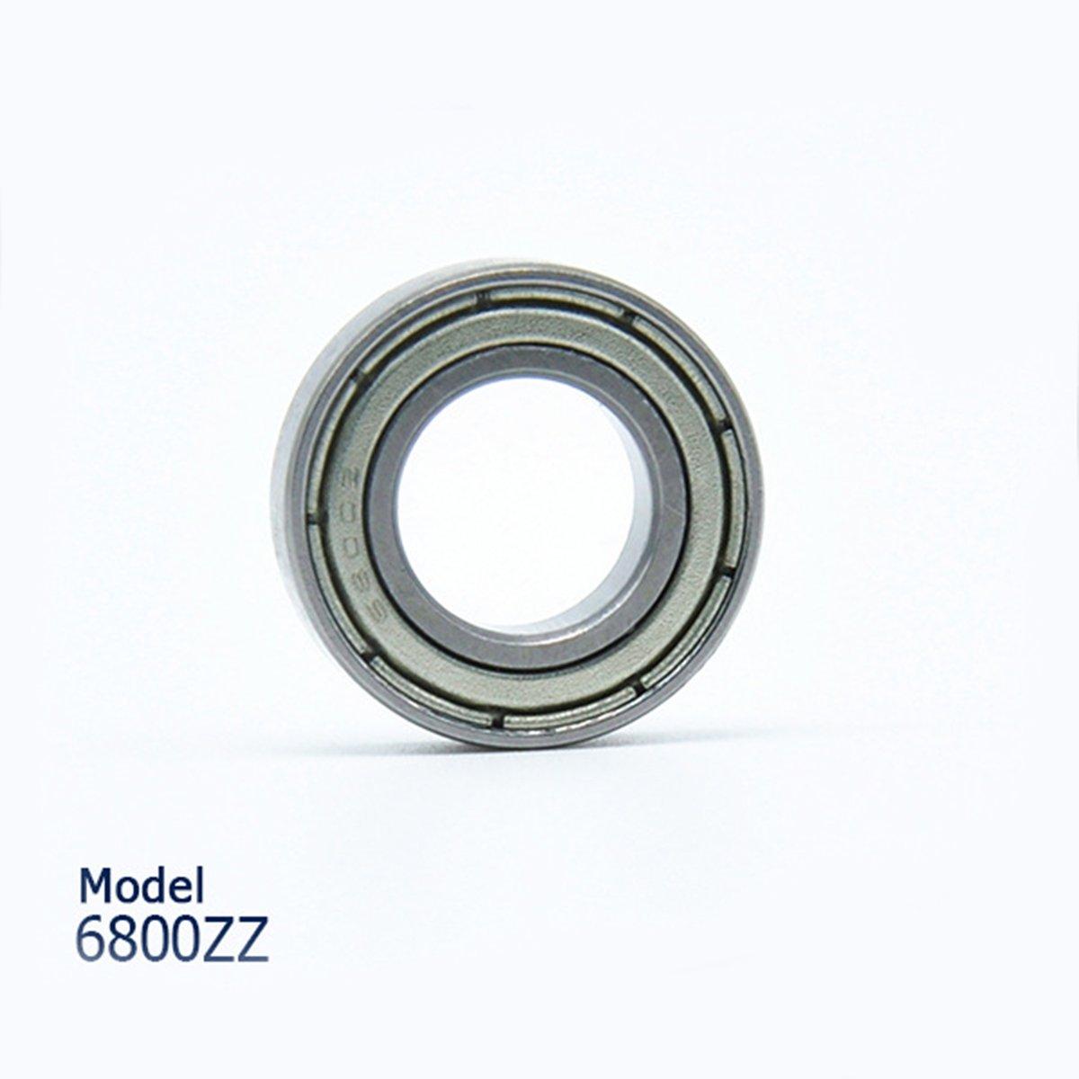 ueetek rodamientos de bolas de ranura profunda 10pcs 6800zz dos boucliers met/álicos laterales 10/x 19/x 5/mm piezas mec/ánicas accesorios