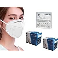sacre solutions Cubrebocas KN95 40 Piezas Certificado con empaque individual, tapabocas de 5 capas con ajuste nasal…