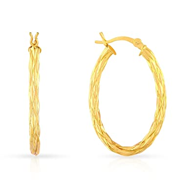 Buy Malabar Gold & Diamonds 22k 916 Yellow Gold Hoop Earrings