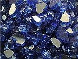 Fireglass Fireplace Fire Pit Glass, Cobalt Reflective Chunky 1/2″, 25 LBS Review