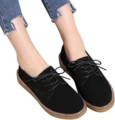Shoes Flats Suede Round Toe Oxfords