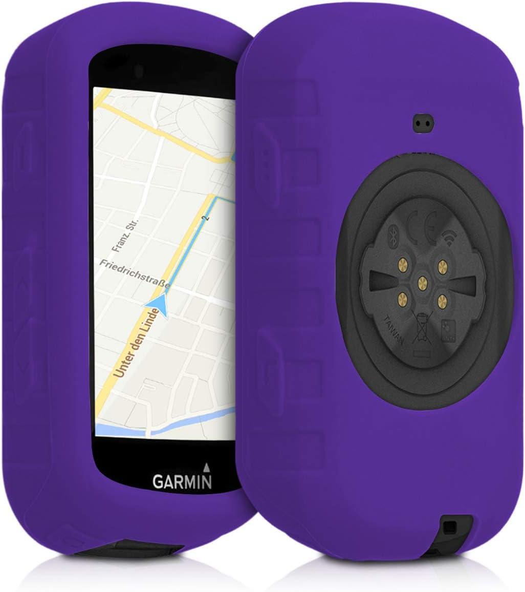 kwmobile Funda Compatible con Garmin Edge 530 - Carcasa de Silicona para GPS - Cover en Negro