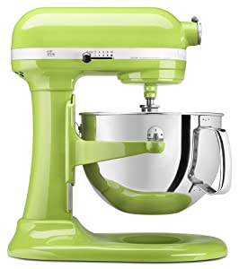 KitchenAid KP26M1XGA 6 Qt. Professional 600 Series Bowl-Lift Stand Mixer - Green Apple