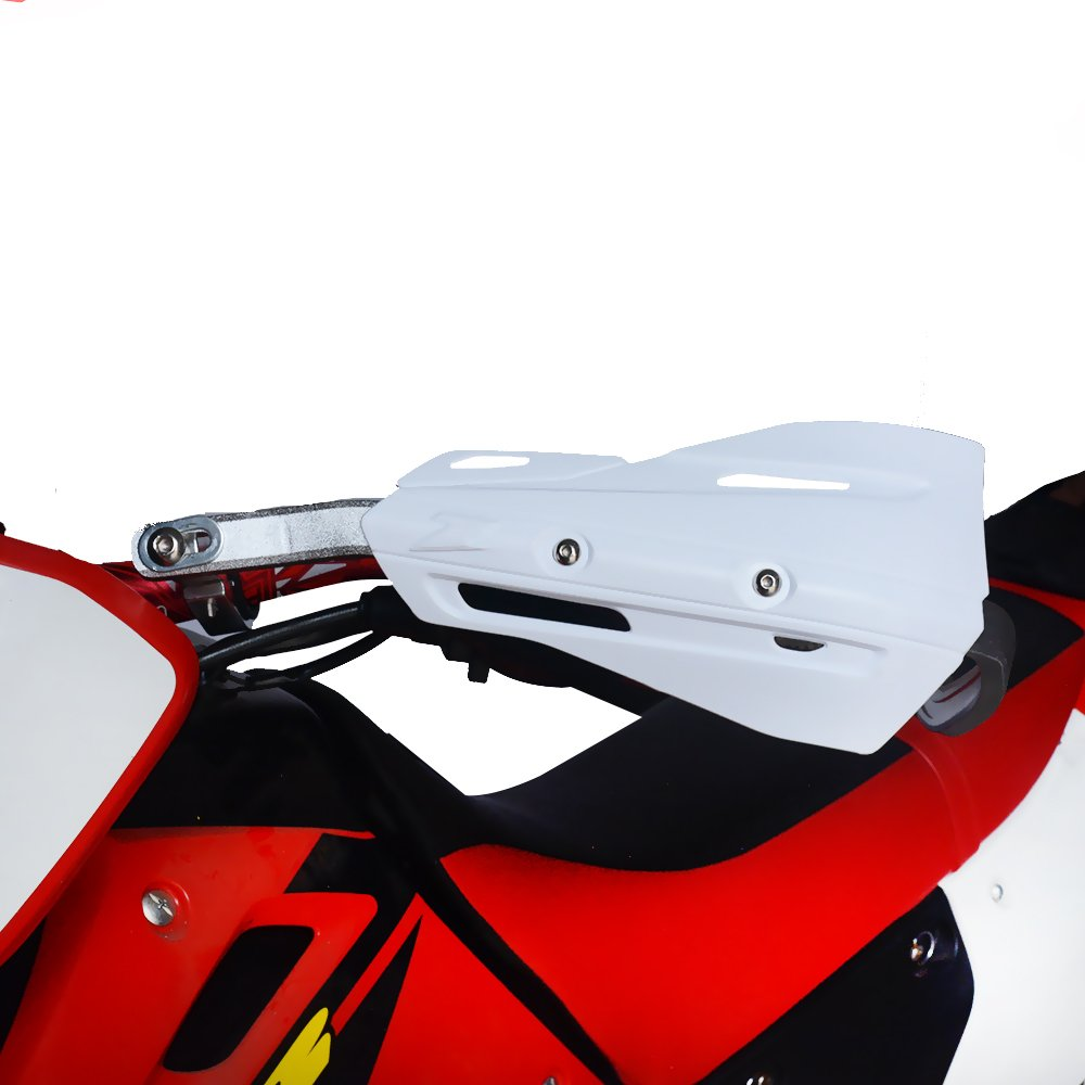 JFG-RACING White Handguards Hand Guards Universal For 7//8 and 1 1//8 Brush Handlebar For For Honda Yamaha Kawasaki Suzuki Dirt Bike Motorcycle MX Supermoto Racing ATV Quad KAYO Motocross