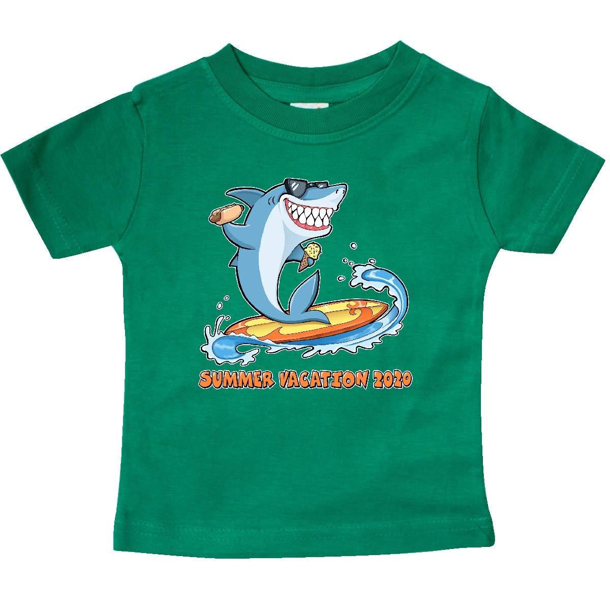 Shark on a Surfboard Baby T-Shirt 363f3 inktastic Summer Vacation 2020