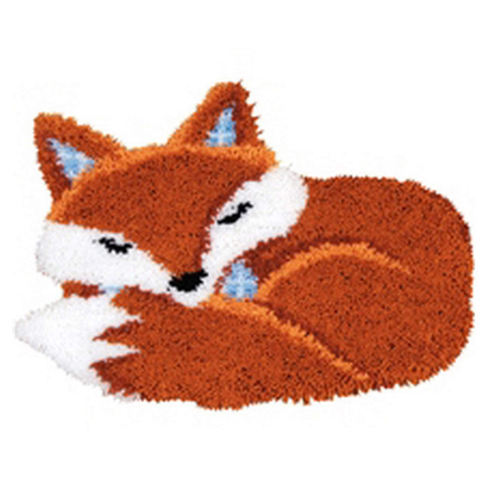 "Ur HQCC Latch Hook Kits Rug DIY Crochet Yarn Kits 3D Fox Pattern Crochet Needlework Crafts for Kids and Adults, 20.5"" X 15"""