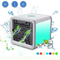 JinHot Personal Evaporative Air Cooler with Cool, Humidify and Purify Functions Apply to Office, Home Living Room, Kitchen and Bedroom