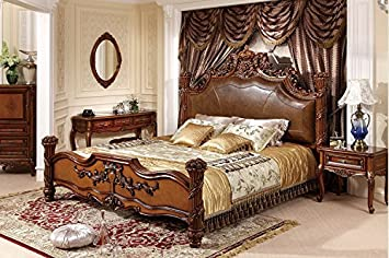 Amazon.com: Ma Xiaoying bedroom sets.Solid wood frame ...