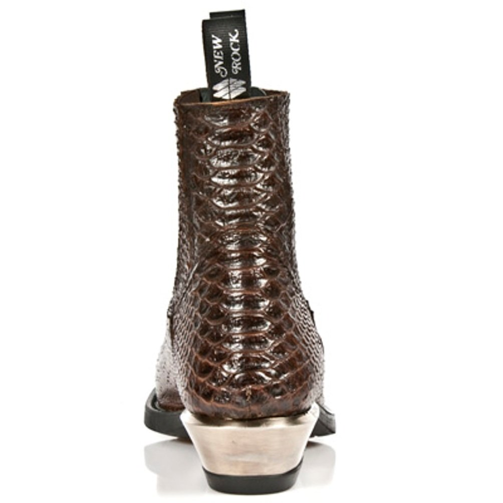 New Rock Newrock Stiefel Style NR M.7953 S3 Python Braun Braun Braun Herren Weinlese Blaume Stahl Absätze 1bf5c4