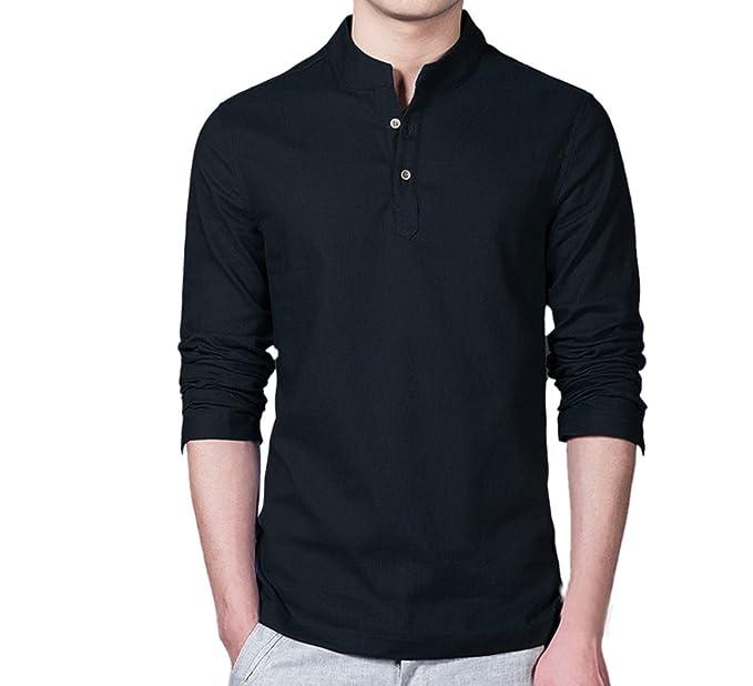 Camisas de Hombres, Dragon868 Moda Hombre Lino Manga Larga Slim Fit Camisa Casual: Amazon.es: Ropa y accesorios