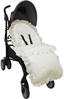Babies Baby Broderie Anglais Luxury Foot Muff Cosy Toe Buggy Pram Liner Nest