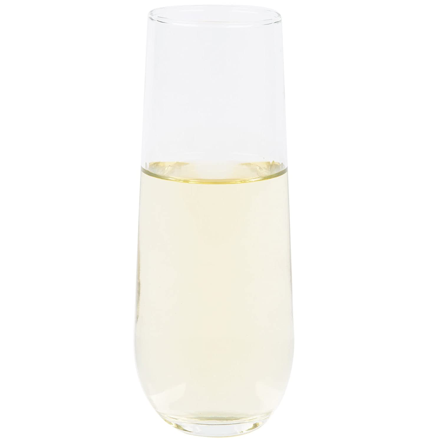 Set of 24 USA Glass Libbey 7.25 oz Stemless Flute Glasses in Clear