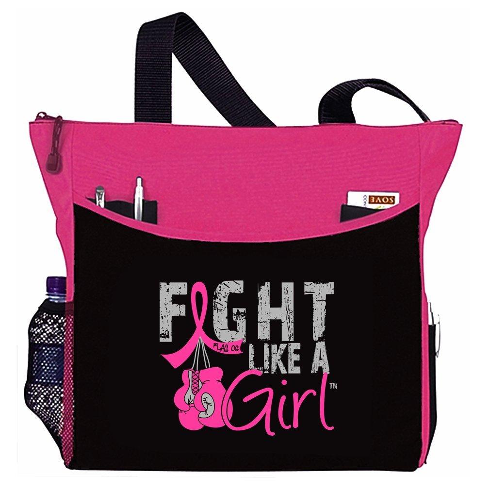 Fight Like a Girl Boxing Glove Tote Bag''Dakota'' (Hot Pink)