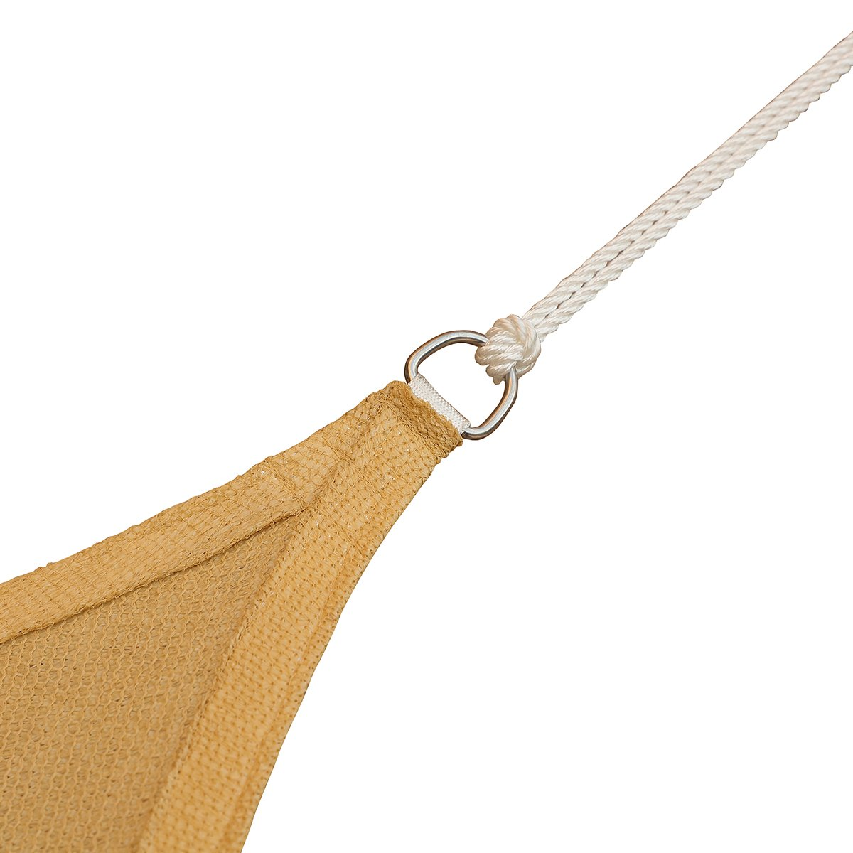 COCONUT Sun Shade Sail Heavy Duty Outdoor UV Block 100 Polyester White Long Rope 1 4 Inch 50 Feet
