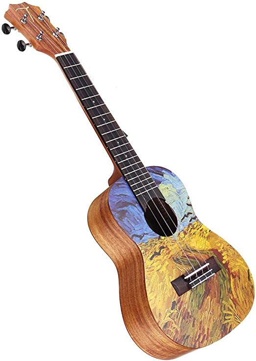 Yingm Guitarra Acustica 23 Pulgadas de Acacia Ukulele con el Bolso ...