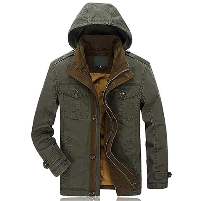Amazon.com: Chaqueta de invierno para hombre Jean Ejército ...
