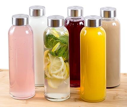 Amazon.com: Botellas de vidrio para agua Estilo, de 16 ...