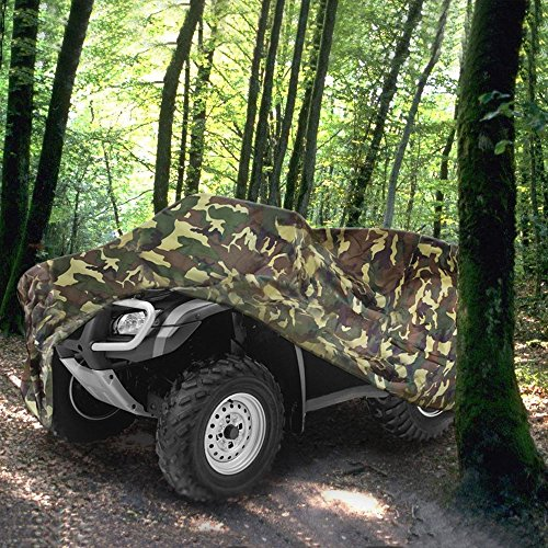 NEVERLAND 190T Quad Waterproof UTV ATV Cover For Polaris Honda Yamaha Suzuki Camouflage XXXL by NEVERLAND (Image #7)