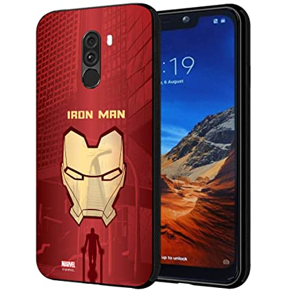 best service 8ba50 7b0c8 MTT Marvel Iron Man Printed Mobile Back Case Cover for Poco F1