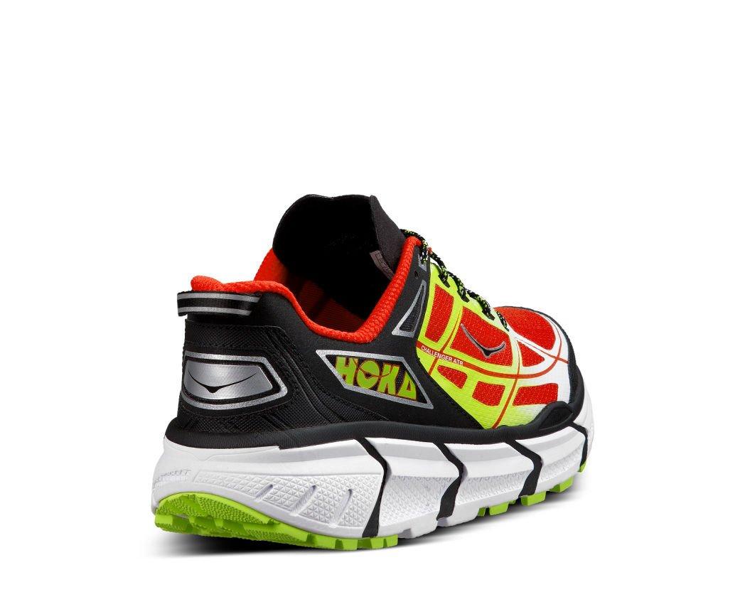 Hoka One One Men's M Challenger Atr Black/Poppy Red Running Shoe 8 Men US