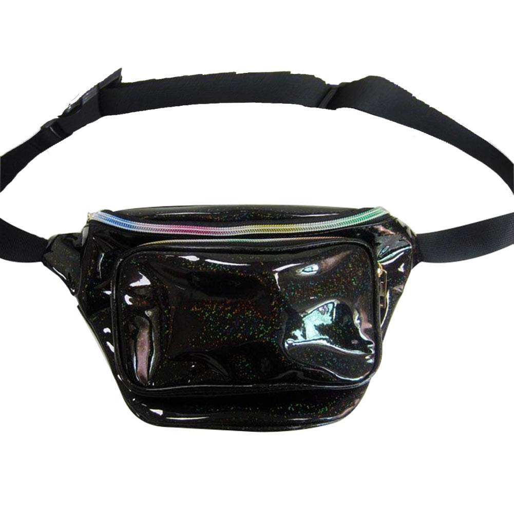 8abaf091e00b Fashion Holographic Fanny Pack for Women Men-Waterproof Travel Waist ...