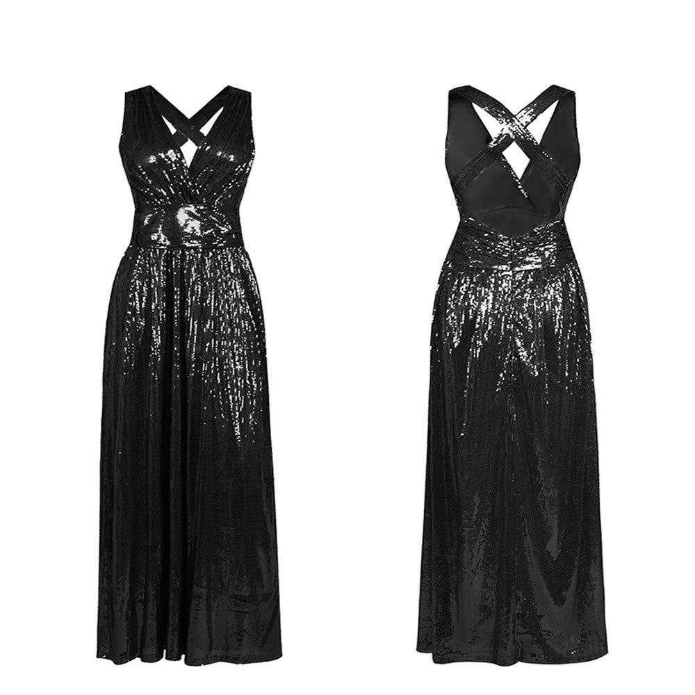 Melodycp Vestito da Donna Damen Tunika-Kleid Sommer ärmellos Vintage schön weich Party Kleider für formelle Anlässe Casual, Polyester, Schwarz, M