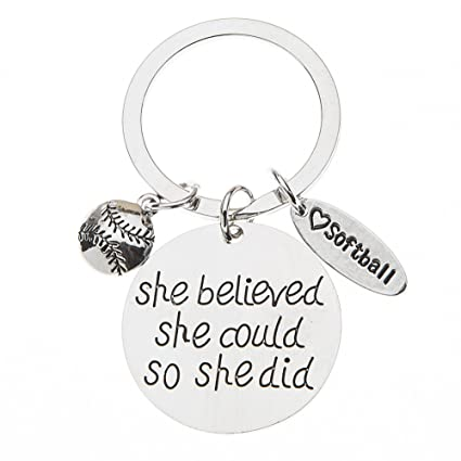 Amazon.com: Softball Keychain, Softball Gift, Girls Softball Jewelry, Perfect Softball Player, Team and Coaches Gifts: Office Products