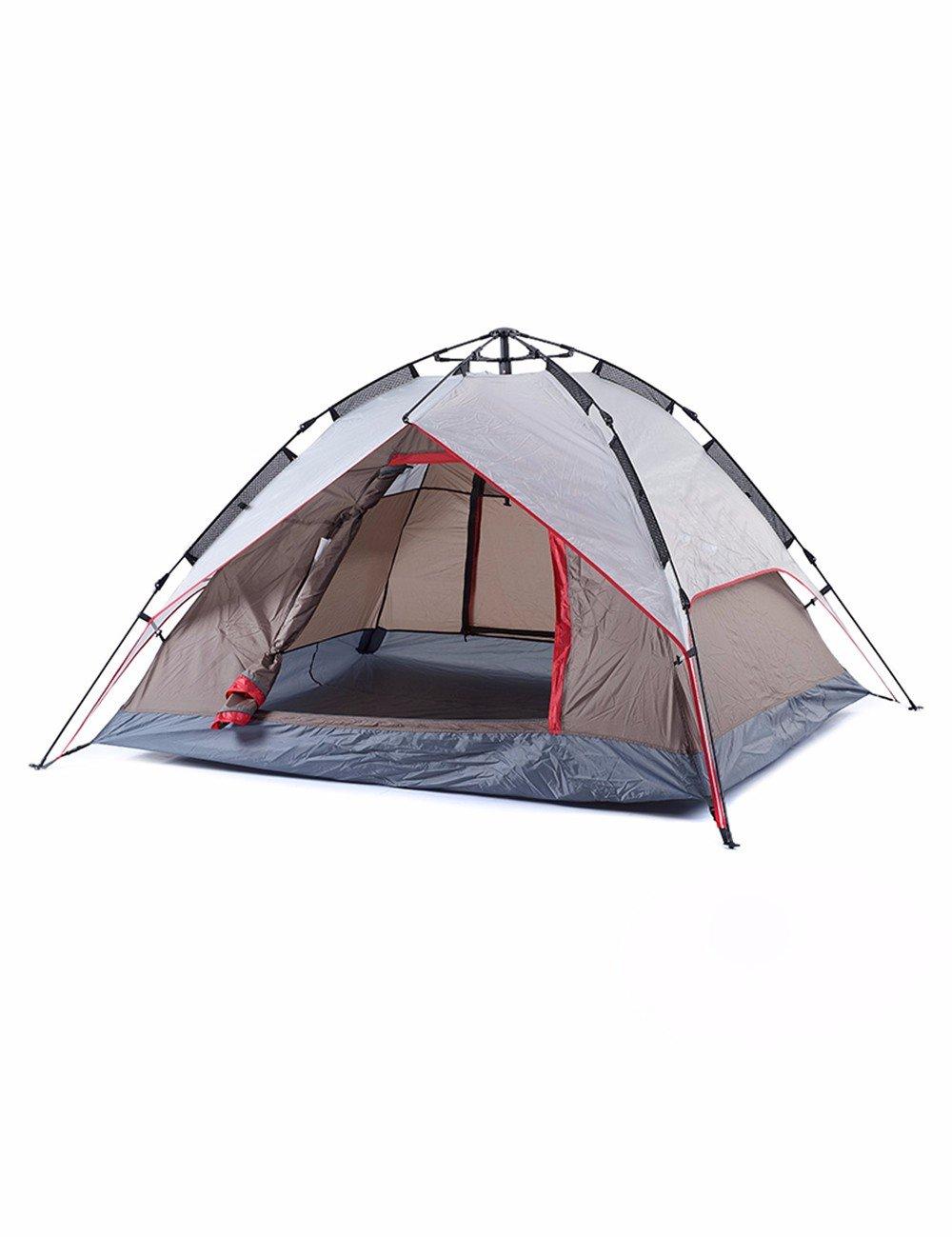 SJQKA-Outdoor 3-4 Voll automatische Zelt, die Familie auf Doppel Zelt, Regen Zeltstoffe