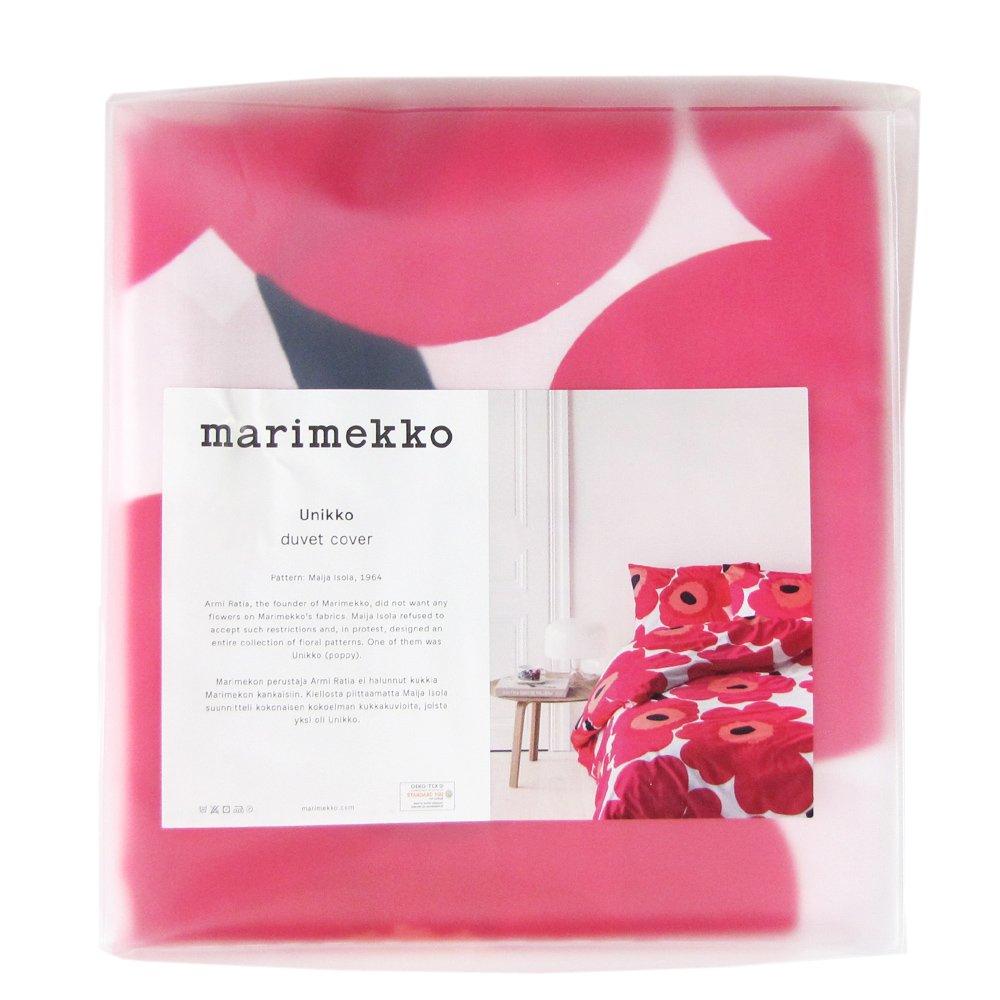 マリメッコ(marimekko) ウニッコ UNIKKO 布団カバー(デュベカバー) 67676-001 150x210cm レッド [並行輸入品] B01FESTRL0