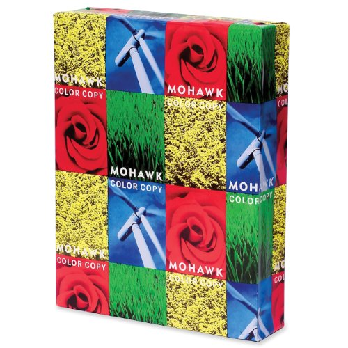 Mohawk Color Copy 100% Recycled Paper Smooth Finish 96-bright PC, 28 lb, 11 x 17 Inch, FSC and Green Seal Certified, 500 Sheets/Ream - Sold as 1 Ream, White Shade (54-302)