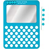 Five Star Magnetic Mirror & Push Pin Board Locker Organizer, 6 x 8-Inches, Teal (73539)