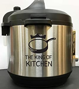 The King of Kitchen - Black Vinyl Decal Sticker for Instant Pot Instapot Pressure Cooker