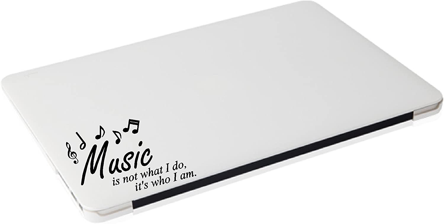 Laptop - Music is not What I do, It's who I am - Matte Black Skins Stickers