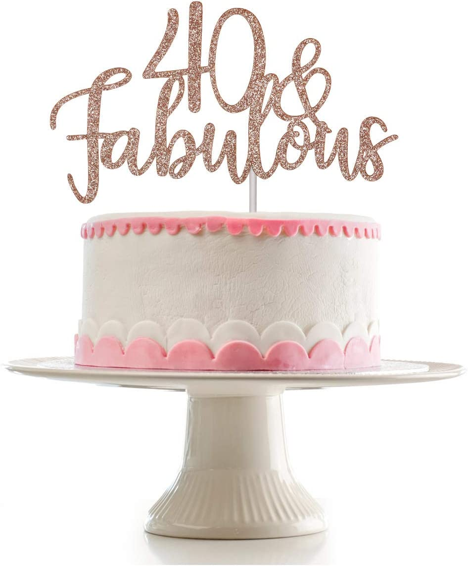Fine 40 Happy 40Th Birthday 40 And Fabulous Cake Topper Birthday Cake Personalised Birthday Cards Cominlily Jamesorg