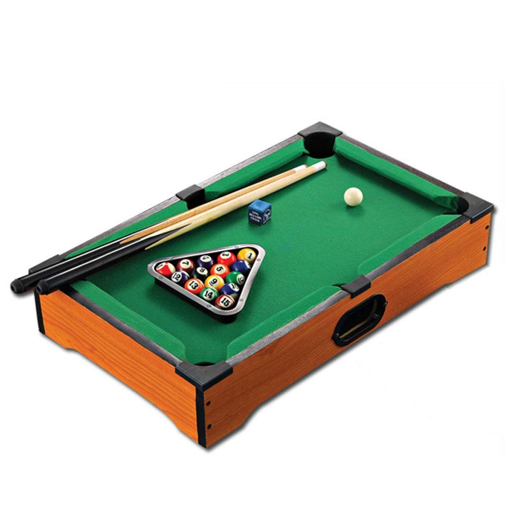 Ybriefbag-Sports Tabletop Billiards Mini Pool Table Desktop Miniature Pool Table Tabletop Toy Gaming Pool-Billiard Table Balls Cues and Rack Pool Family Playing for Adults Kids by Ybriefbag-Sports