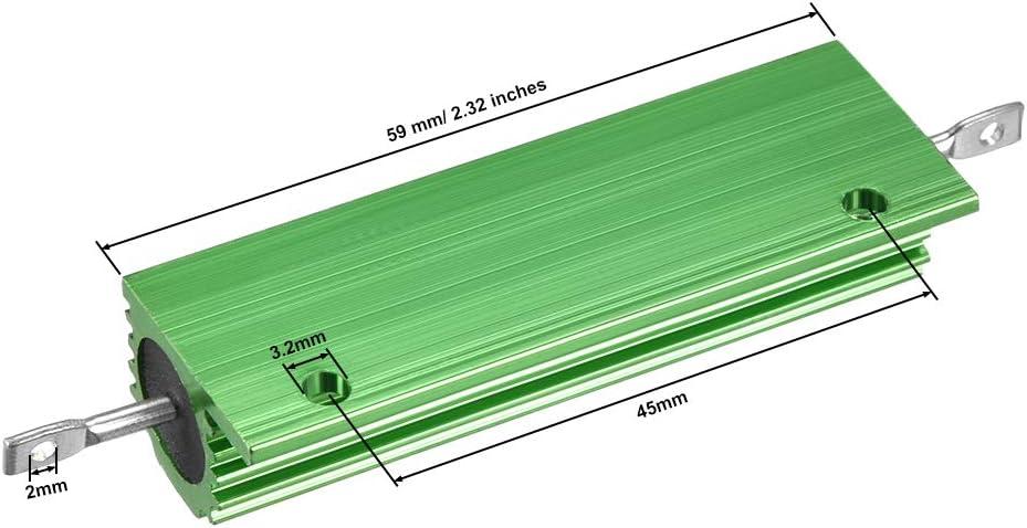 sourcing map 2Pcs Aluminumgeh/äuse Widerstand 100W 470 Ohm Drahtgewickelt LED Ersatz Konverter DE de
