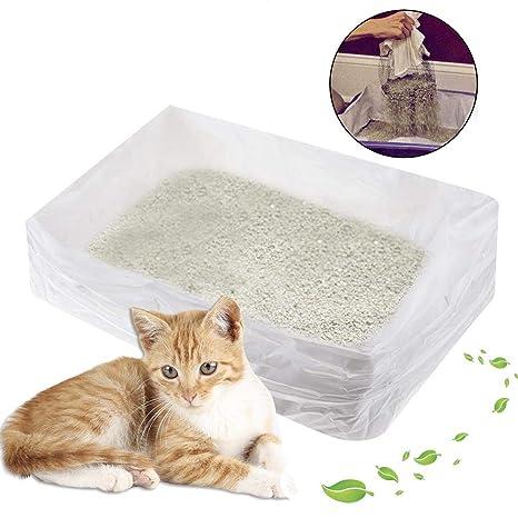 Caja para arena de gatos, red de filtro de limpieza rápida para propietarios de mascotas