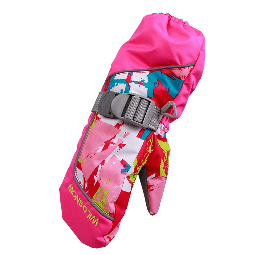 Gogokids Boys Girls Warm Snow Mittens Waterproof for Winer Outdoor Sports Skiing,Cycling and Snowboard 2-4 Years Kids Winter Ski Gloves