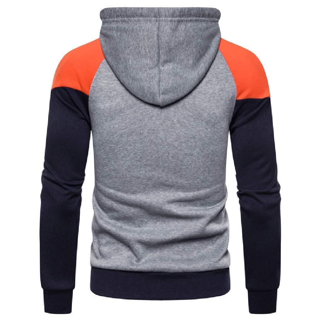 Sweat Capuche Hommes Hommes Automne Hiver /À Manches Longues Sweat /À Capuche Outwear Tops Blouse