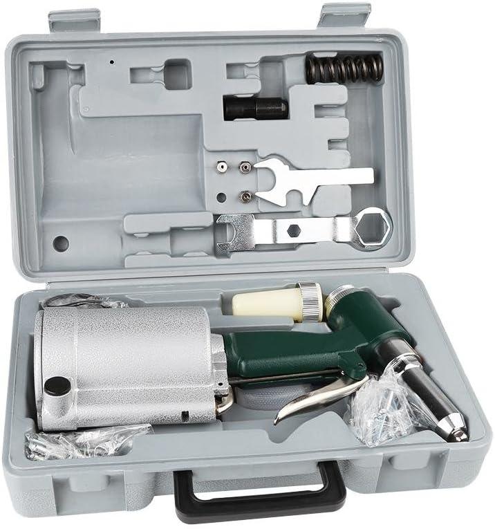 Remachadora de aire comprimido neumático, Kit Accesorios Remaches industrial remachadora pistola hidráulica del aire ribattino stabilito 2.4–4.8MM